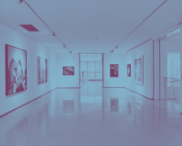 Picture of an empty hall in an art museum