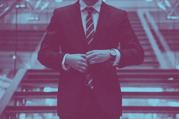 Corporate employee in a suit